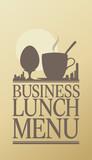 Business Lunch Menu Card Design template poster