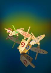 hanukkah traditional spinning tops