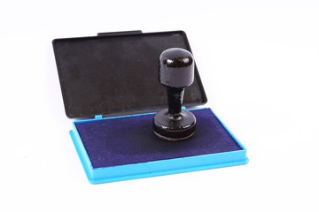 Classic stamp with blue ink pad