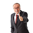 senior business man thumbs up