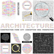 ARCHITECTURE concept illustration. GREAT COLLECTION.
