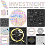 INVESTMENT concept illustration. GREAT COLLECTION. poster