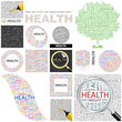HEALTH concept illustration. GREAT COLLECTION.