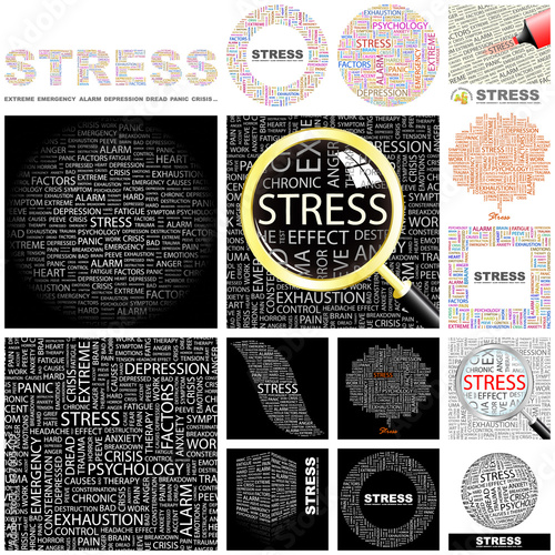 STRESS concept illustration. GREAT COLLECTION.