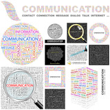 COMMUNICATION concept illustration. GREAT COLLECTION.