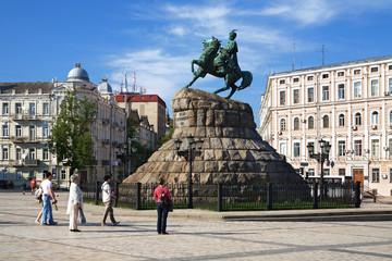 The monument to Bohdan Khmelnitsky in Kiev, Ukraine