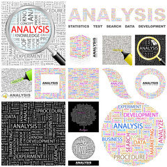 ANALYSIS. Concept illustration. GREAT COLLECTION.