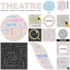 THEATRE. Concept illustration. GREAT COLLECTION.