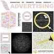 ADVERTISING. Concept illustration. GREAT COLLECTION.