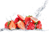 Fototapety fragole splash