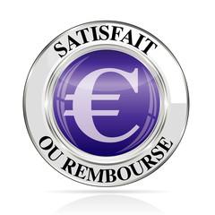 bouton satisfait ou remboursé