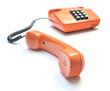 Retro Telefon mit Tastatur