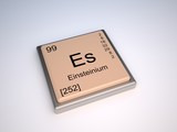 Einsteinium chemical element of the periodic table