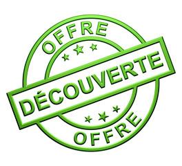"""""""Offre Découverte"""" Cachet (vert)"""