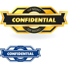 CONFIDENTIAL. Vector label.