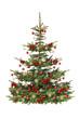 Festlich geschmückter Weihnachtsbaum,