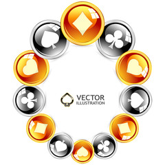 Vector gambling composition. Abstract illustration.