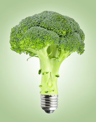 Broccoli with bulb screw
