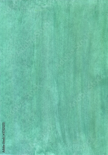 Abstract fully green watercolor background on paper