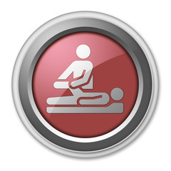"""Red 3D Style Button """"Physical Therapy"""""""
