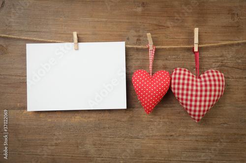 Herzen mit Blatt