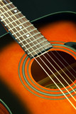 Six-string acoustic guitar poster