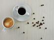 Tazza di caffè e cappuccino
