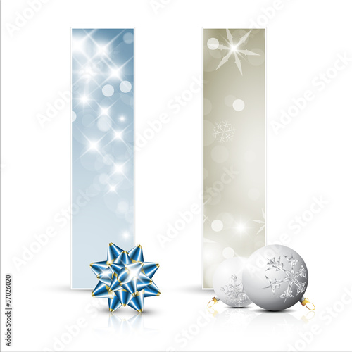 Set of vector christmas cards or banners