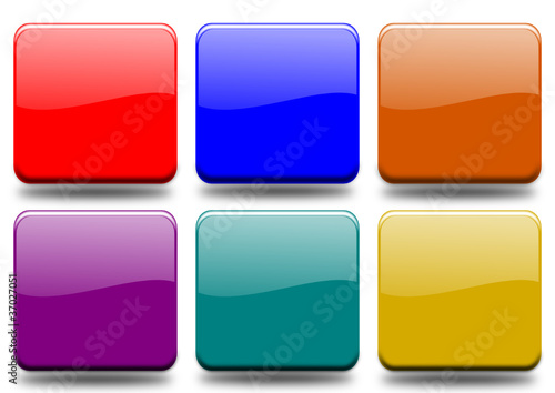 Set 6 buttons of different colors