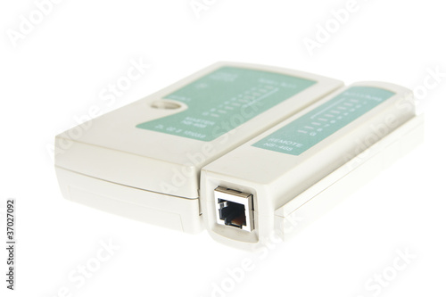 Cable tester on white background