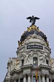 Metropolis building in Madrid poster