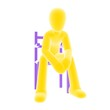 yellow person sitting B