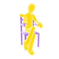 yellow person sitting A