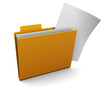 folder with paper
