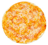 vegetarian pizza, top view