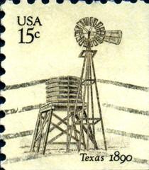 Texas, 1890. US Postage