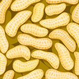 peanuts in pod seamless background