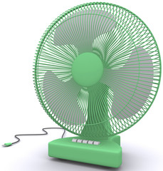 Desktop fan on a white background