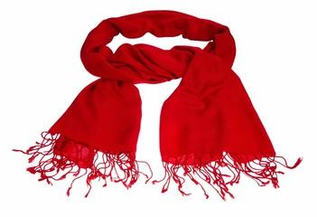 Knallroter Schal für die kalte Jahreszeit