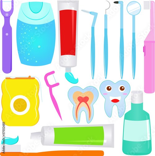 Cute Vector : Dental care (Tooth) Dentist Icons