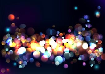 Blurred lights background. Vector Illustration