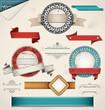 Vintage Grungy Design Elements. Vector Illustration.