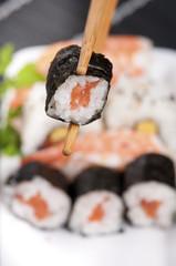 Sushi con sfondo