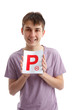 Successful P Plate Teenager Driver