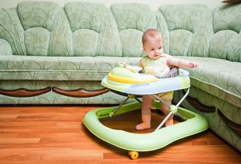 baby in the baby walker