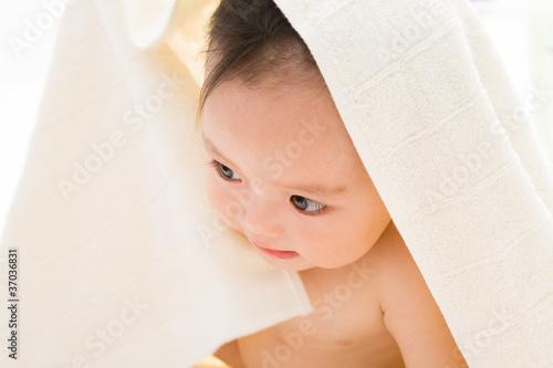 Fototapeten,handtuch,badewannen,nackt,baby