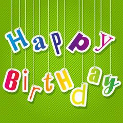 Illustration for happy birthday card. Vector.