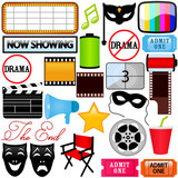 Theme of vector Icons : Drama, Entertainment, Film, movie poster