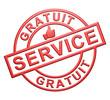 """""""Service Gratuit"""" Cachet (rouge)"""