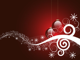 Dark Red Christmas design